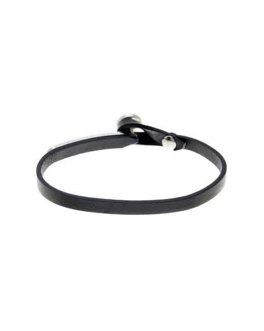 Steve Madden | Black Leather Button & Loop Closure Bracelet | Lyst