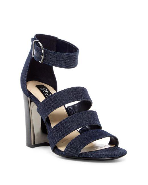 Jones New York   Blue Jesse Block Heel Sandal   Lyst