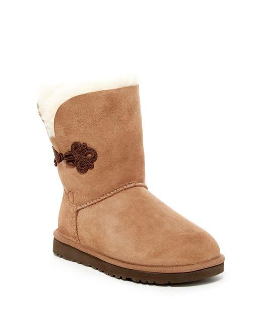 Lyst - Ugg Bailey Mariko Genuine Sheepskin Boot in Brown