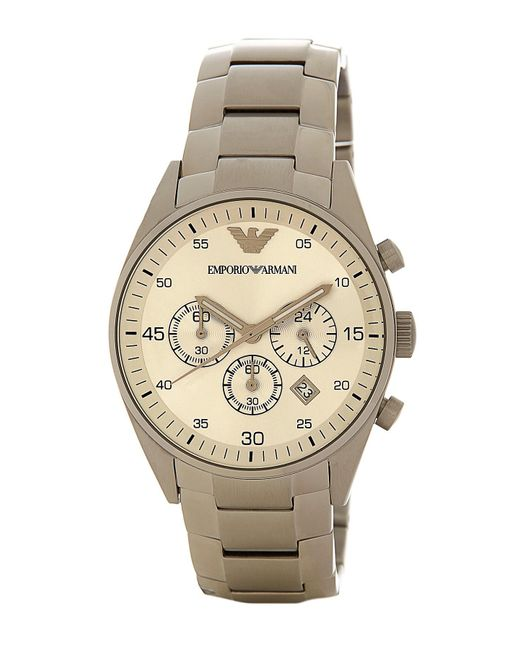 Emporio Armani - Multicolor Men's Beta Leather Watch for Men - Lyst