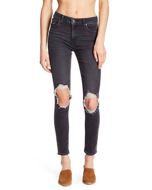 "Levi's - Black 721 High Rise Skinny Jeans - 30"" Inseam - Lyst"
