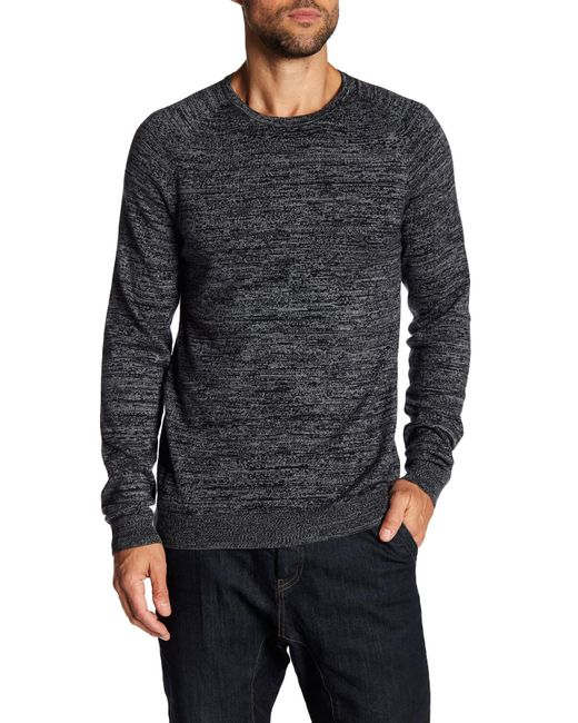 Calibrate | Gray Crew Neck Heathered Sweater for Men | Lyst