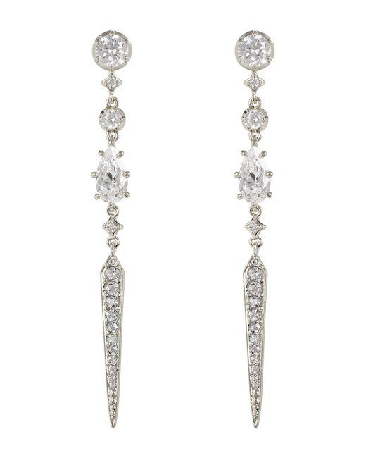 Nadri - Metallic Cz Linear Spike Drop Earrings - Lyst