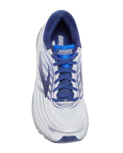 6dc9951f06a ... Brooks - Blue Glycerin 15 Running Sneaker for Men - Lyst ...