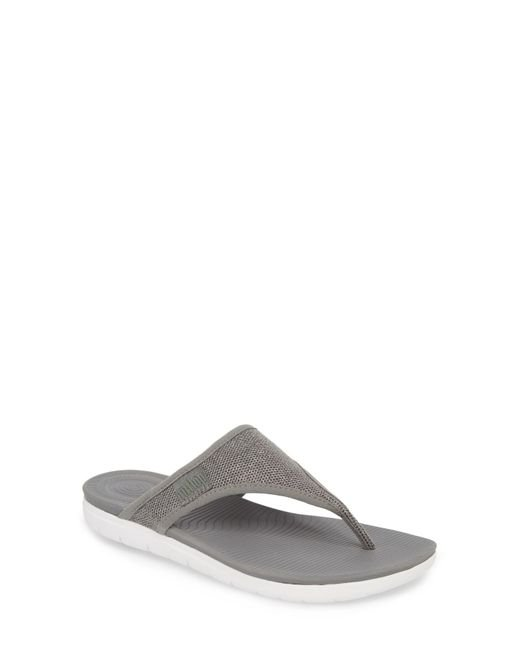 Fitflop - Gray Uberknit Thong Sandals - Lyst
