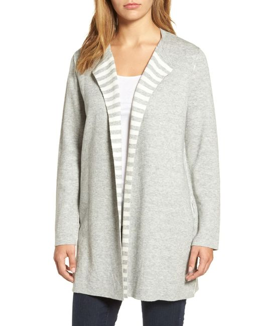 Eileen Fisher Reversible Organic Cotton Blend Cardigan Lyst