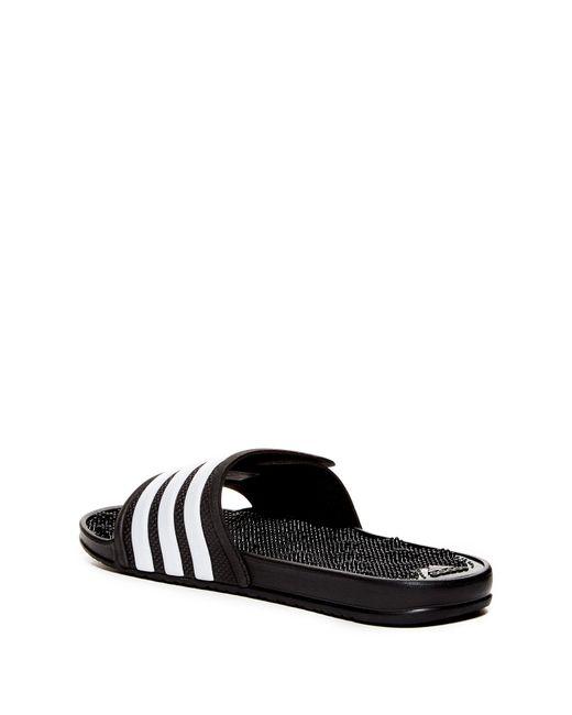 13f2ada45c3d ... Adidas - Black Adissage 2.0 3-striped Slide for Men - Lyst ...