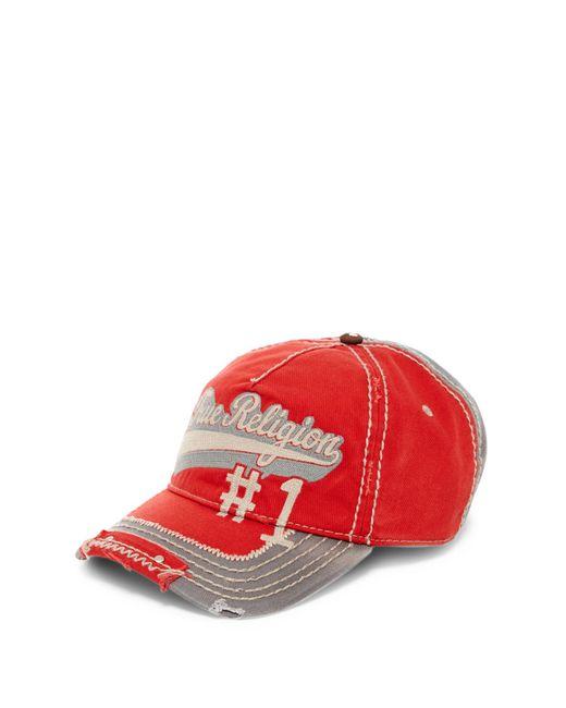 True Religion | Red Script Baseball Cap for Men | Lyst