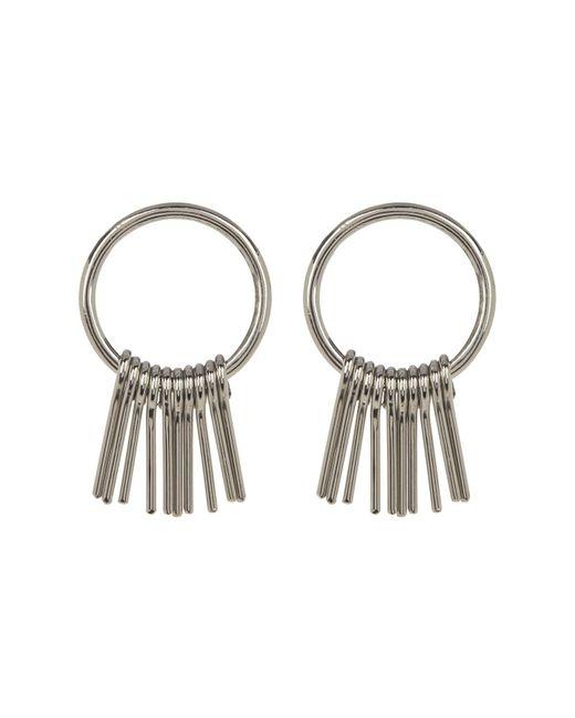 Soko - Metallic Fringe Round Earrings - Lyst