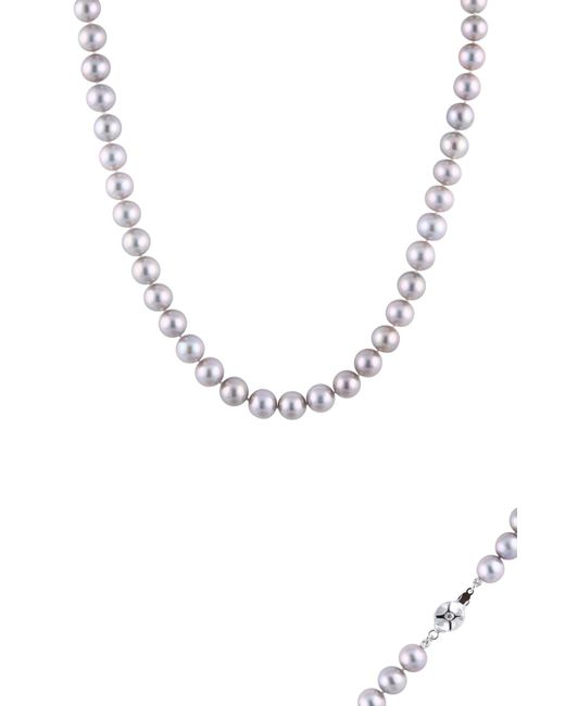 Splendid - Metallic Sterling Silver Dyed Gray 9-9.5mm Freshwater Pearl Necklace - Lyst