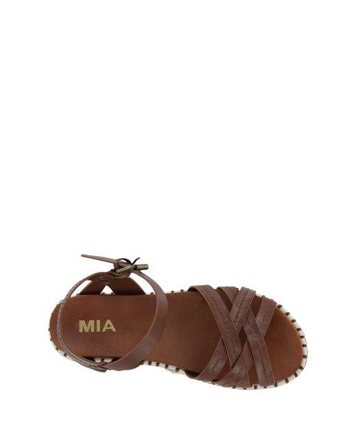 c758f4cbc7 MIA Virginia Espadrille Platform Sandal in Brown - Save 10% - Lyst