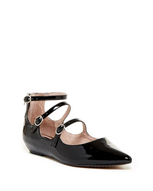 Steven by Steve Madden | Black Gantry Wedge Pointed Toe Ballet Flat | Lyst