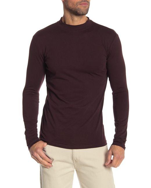 4d8716c8 Lindbergh - Purple Mock Neck Long Sleeve Tee for Men - Lyst ...