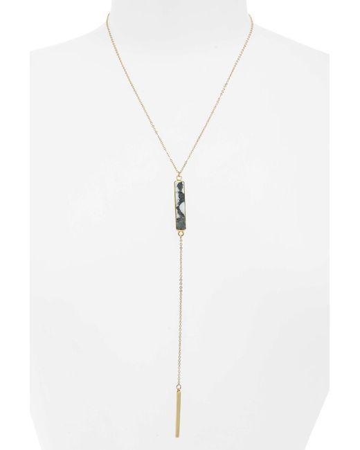 Panacea - White Bar Stone Y Necklace - Lyst