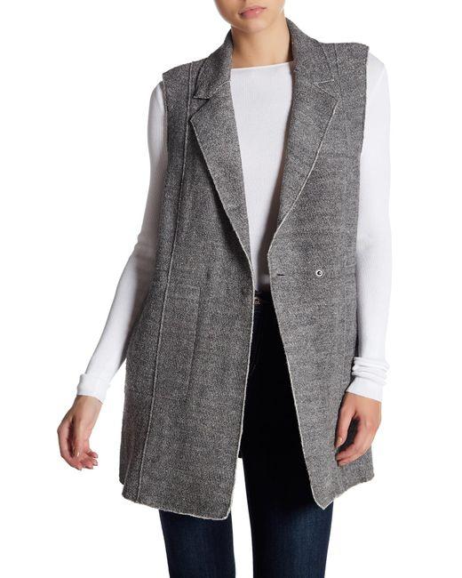 Vigoss - Gray Raw Edge Vest - Lyst