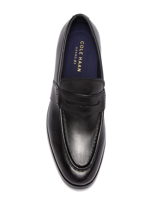 569064fe05a ... Cole Haan - Black Jefferson Grand Penny Loafer - Wide Width Available  for Men - Lyst ...