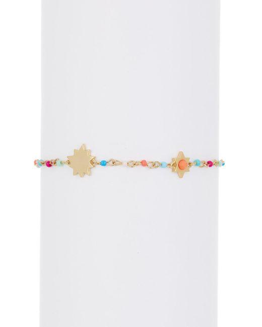 Rebecca Minkoff - Metallic Sole Beaded Bracelet - Lyst