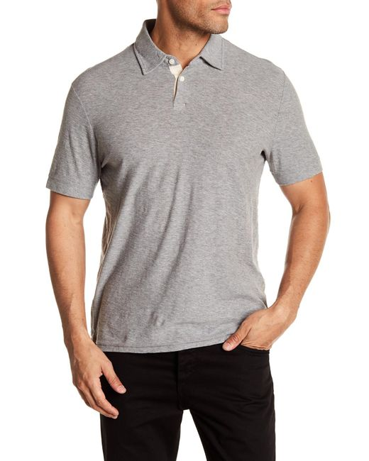 Jack Spade - Gray Lightweight Knit Polo for Men - Lyst