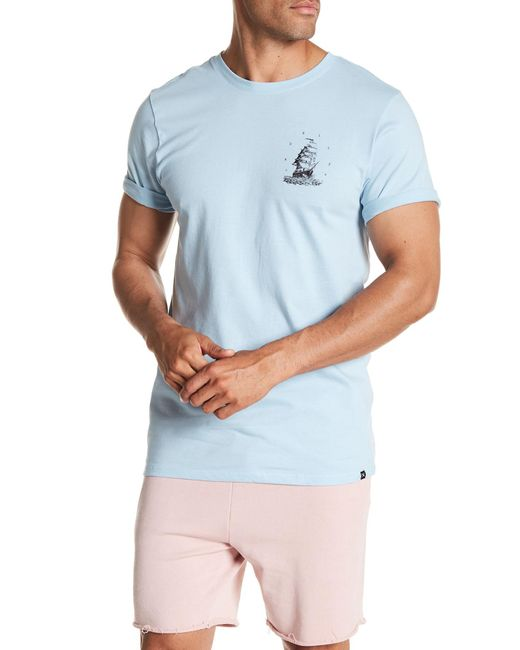 Hurley - Blue Paradiso Crew Neck Graphic Tee for Men - Lyst
