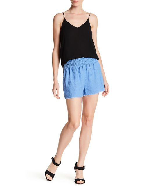Tibi | Blue Lightweight Linen Short | Lyst