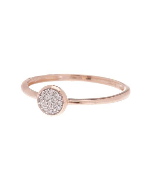 Bony Levy - Metallic 18k White Gold Pave Diamond Ring - Lyst