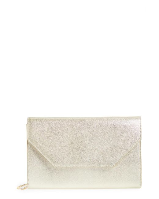 Halogen - Metallic Angled Leather Day Clutch - Lyst