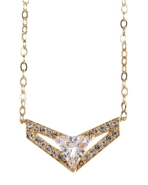 Nadri   Metallic Triangle Wing Small Pendant Necklace   Lyst