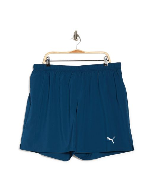 """PUMA Blue Woven Session 7"""" Running Shorts for men"""