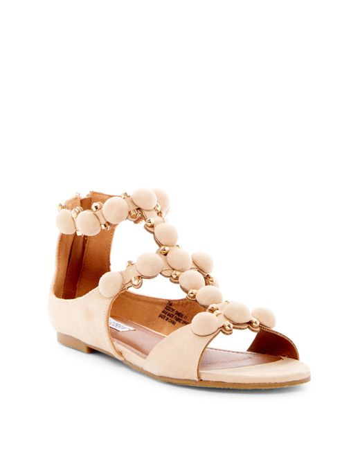 Cape Robbin - Brown Dome Studded Ankle Strap Sandal - Lyst