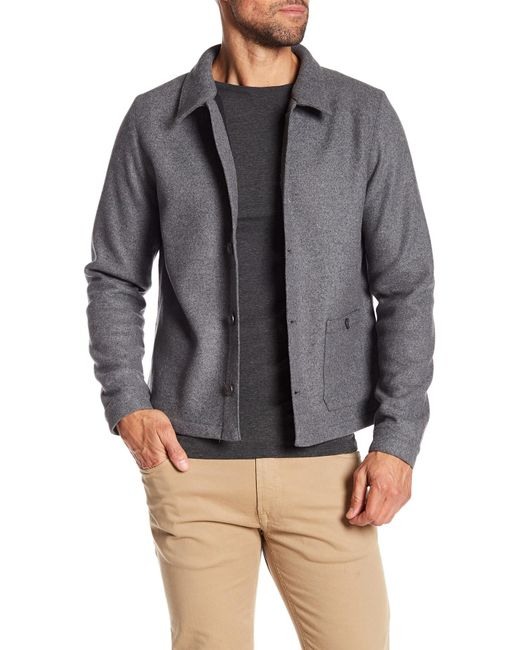 Native Youth - Gray Wool Blend Jacket for Men - Lyst
