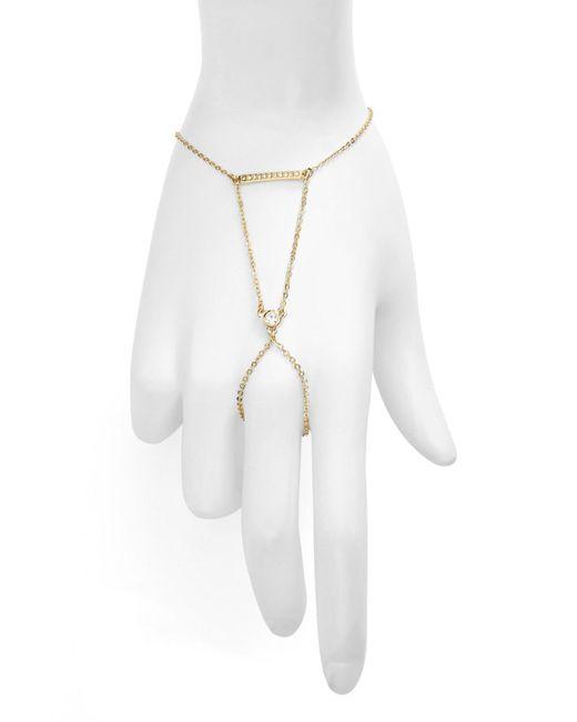 Rebecca Minkoff | White Safari Haze Crystal Hand Chain | Lyst