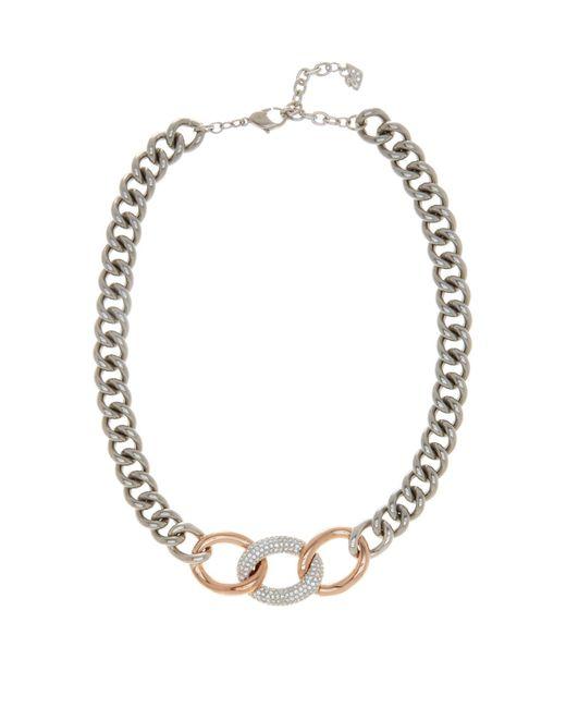 Swarovski   Metallic Bound Crystal Detail Chain Necklace   Lyst