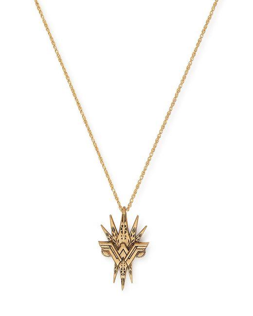 ALEX AND ANI - Metallic 14k Gold Wonder Woman Spike Pendant Necklace - Lyst