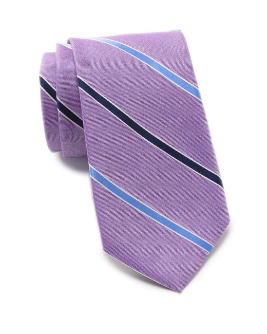 Nautica - Purple Hayward Stripe Tie for Men - Lyst