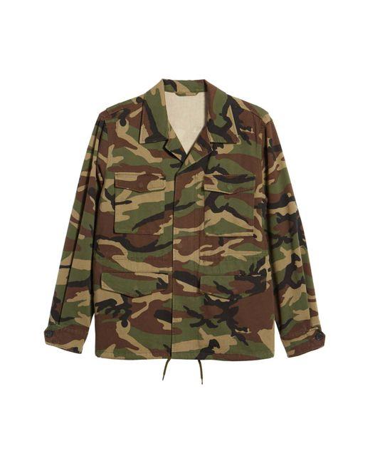 Vince Green Slim Fit Camo Jacket for men