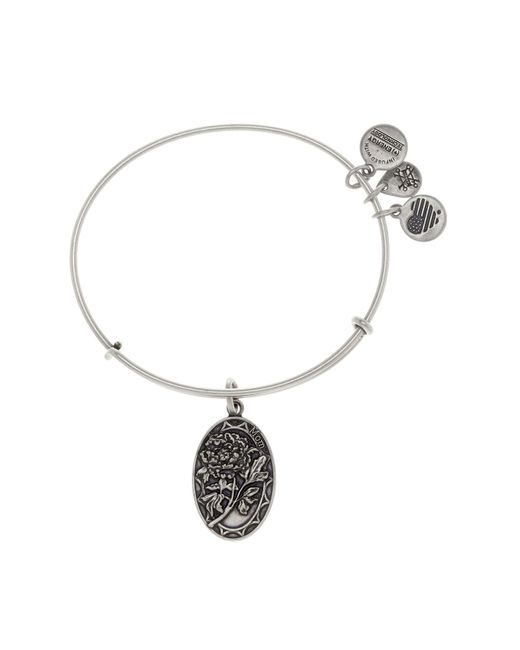 ALEX AND ANI - Metallic Because I Love You Mom Rose Charm Expandable Wire Bangle Bracelet - Lyst
