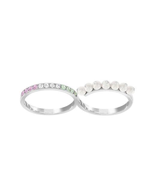 Swarovski | Metallic Double Calista Ring - Size 7 | Lyst