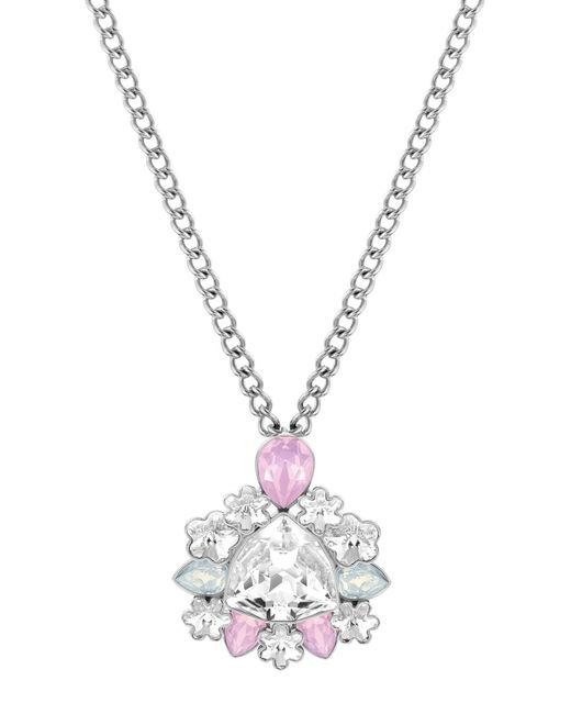 Swarovski   Metallic Crystal Pendant Necklace   Lyst