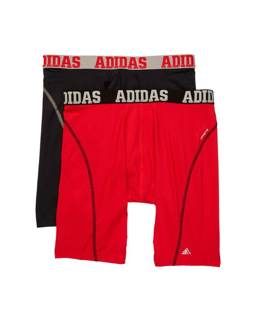 Adidas - Red Sport Midway Brief - Pack Of 2 for Men - Lyst