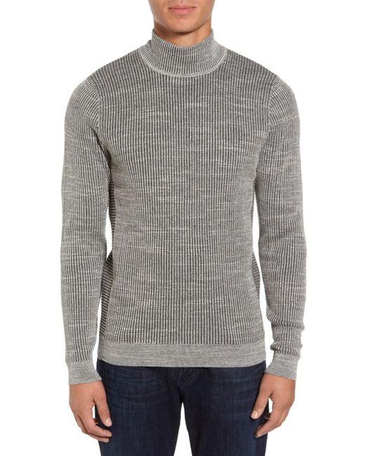 Calibrate - Gray Mock Neck Sweater for Men - Lyst