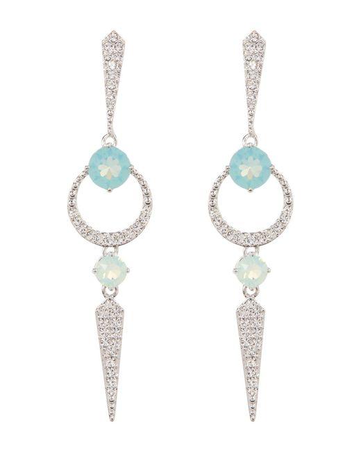 Nadri | Multicolor Gwen Linear Crystal Pave Drop Earrings | Lyst