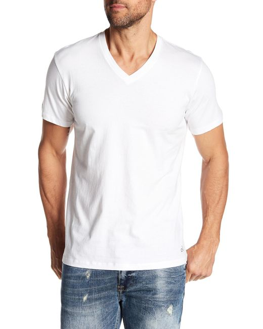 CALVIN KLEIN 205W39NYC - White V-neck Tee - Pack Of 3 for Men - Lyst