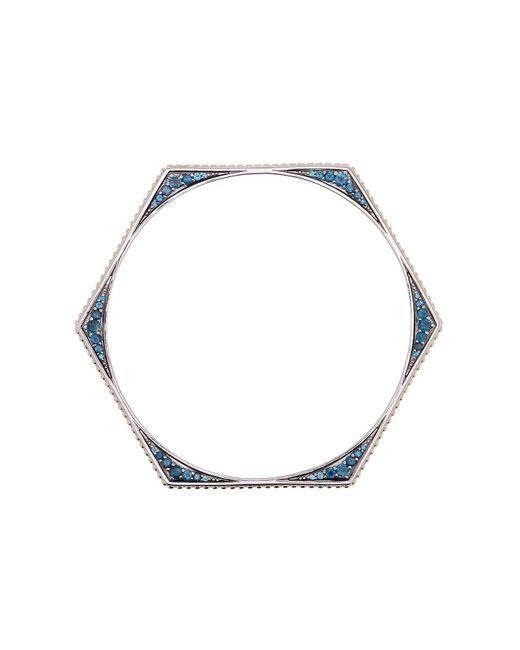 Stephen Dweck | Sterling Silver London Blue Topaz Detail Bangle | Lyst
