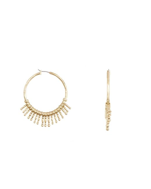 Lucky Brand - Multicolor Sunburst 50mm Hoop Earrings - Lyst