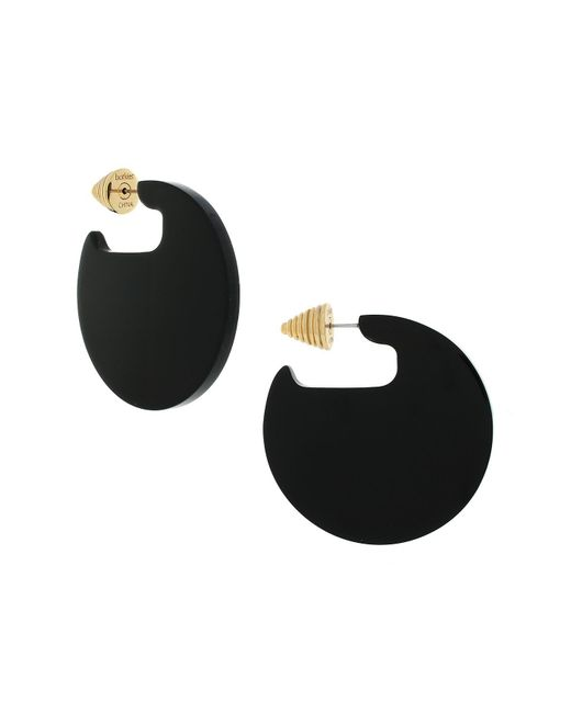 Botkier | Multicolor Two-tone Circle Drop & Textured Pyramid Front To Back Earrings | Lyst