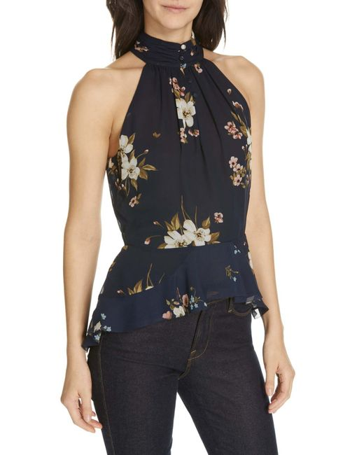 0843fa174700 Joie Abbigayl Floral Silk Blouse in Blue - Save 35% - Lyst