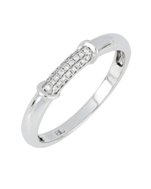 Bony Levy - Metallic 18k White Gold Diamond Pave Ring - 0.08 Ctw - Lyst
