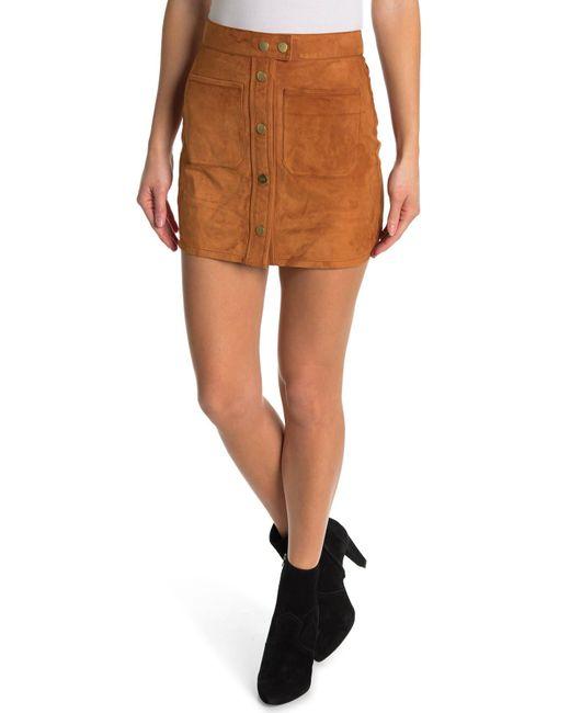 FRAME Brown Patch Pocket Skirt