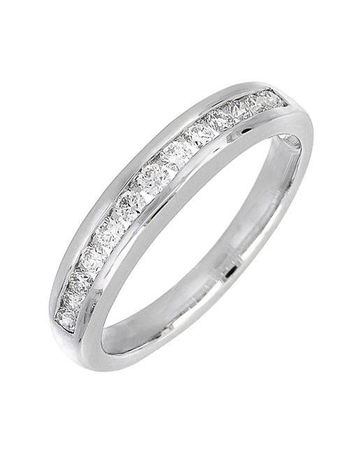 Bony Levy - Metallic 18k White Gold Channel Set Diamond Band Ring - 0.27 Ctw - Lyst