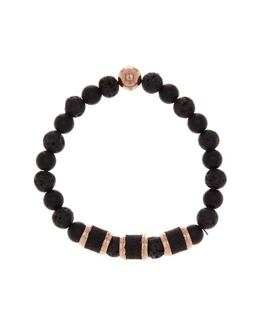 Steve Madden | Black Lava Stone Stretch Bracelet | Lyst